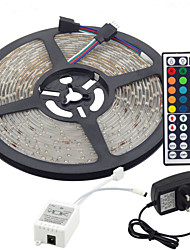 cheap -5m Flexible LED Light Strips / Light Sets / RGB Strip Lights LEDs 3528 SMD RGB Remote Control / RC / Cuttable / Dimmable 100-240 V / Linkable / Self-adhesive / Color-Changing / IP44