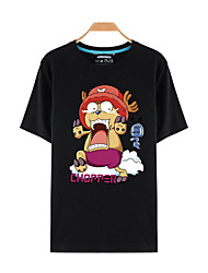 Inspired by One Piece Tony Tony Chopper Anime Cosplay Costumes Cosplay T-shirt Print Short Sleeves Top For Unisex