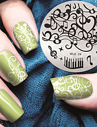 cheap -2016 Latest Version Fashion Pattern Music Note Nail Art Stamping Image Template Plates
