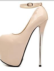 abordables -Mujer Zapatos Semicuero Primavera / Otoño Tacón Stiletto Negro / Almendra / Fiesta y Noche / Fiesta y Noche