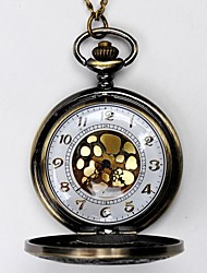 Unisex Pocket Watch Fashion Bronze Pocket Watch Roman Scale Watch Clamshell Cool Watches Unique Watches