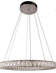 cheap -Crystal LED Chandeliers Lights Lighting Modern Single Rings D60CM K9 Large Crystal Indoor Ceiling Light Fixtures