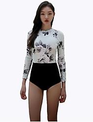 Per donna Ompermeabile Resistente ai raggi UV Traspirante Materiali leggeri LYCRA® Scafandro Set di vestiti-Nuoto Immersioni Surf