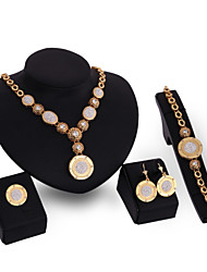 Latest Ladies Fashion European And American Jewelry Set / Necklace / Ring / Earrings / Bracelet