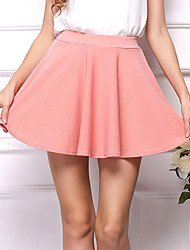 Women's Solid Pink Skirts,Club / Casual / Day Mini