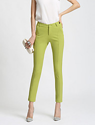 Women's Solid Blue / Red / White / Black / Green Skinny Pants,Casual / Day / Simple