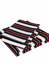 cheap -Sheet Set - Microfibre Polyester Stripe 1pc Flat Sheet 1pc Fitted Sheet 2pcs Pillowcases (only 1pc pillowcase for Twin or Single)