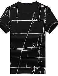 Hombre Deportes Casual/Diario Tallas Grandes Camiseta A Cuadros Manga Corta Algodón