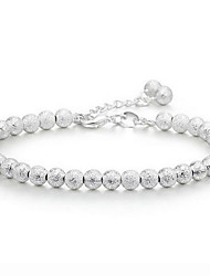 S925 Pure Stering Silver Ball Beads Polished Bracelet,Fine Jewelry Christmas Gifts