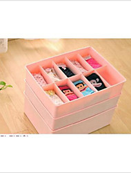 cheap -10 Case Underwear Socks Ties Bras Wardrobe Organizer Drawer Pink Storage PP Plastic Box