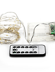 economico -brelong 50 led 5 m outdoor vacanza decorazione calda luce bianca led luce della stringa (dc4.5 v)