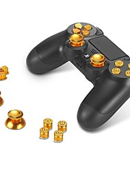 bottoni in metallo ABXY presa tasti + thumbsticks pollice e cromo d-pad per Sony PS4 DualShock 4 Regolatore kit mod