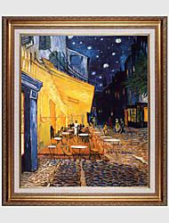 baratos -Pintados à mão Paisagem / Floral/BotânicoClássico / Tradicional / Estilo Europeu 1 Painel Tela Pintura a Óleo For Decoração para casa
