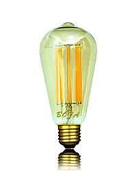 economico -b22 e26 / e27 led lampadine globali st64 8 cob 450-650lm bianco caldo 2200k 2700k 3000k decorativo dimmable ac 220-240 ac 110-130v