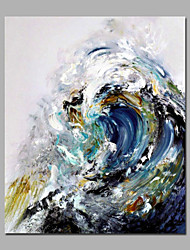 cheap -Handmade  Acrylic Paintings Sea Wave Beautiful Landscape Summer Painting Home Deco For Living Room Stretchered