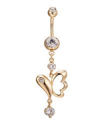 Недорогие -женская циркон нержавеющая сталь пупок пупка кольцо танцы ювелирные изделия тела ювелирные изделия пирсинг
