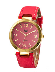 cheap -Women's White Case Leather Band Analog Wrist Watch Jewelry Cool Watches Unique Watches