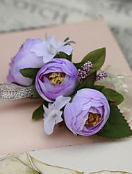 abordables -Fleurs de mariage Petit bouquet de fleurs au poignet Mariage Fête / Soirée Soie Coton 3cm