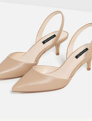 Women's Shoes Microfibre Low Heel Heels / Pointed Toe / Closed Toe Sandals Dress White