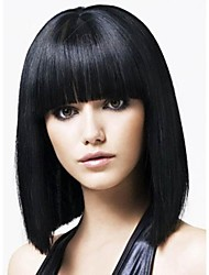 cheap -2016 Hot Full Bang Chunk Tips Style Yaki Straight Lace Front Gluless full lace wig For African American Women