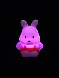 cheap -Creative Color-Changing Acrylic Turnip Rabbit Colorful LED Night Light Cute Little Rabbit Wedding Supplies