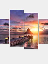 Moderno Impressão em tela 4 Painéis Pronto para pendurar,Horizontal