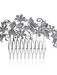 お買い得  -真珠 クリスタル ラインストーン 合金 - ヘアコンビ 1 結婚式 パーティー カジュアル かぶと