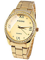 cheap -Women's Watch Fashion Diamond Dial Gold Steel Cool Watches Unique Watches
