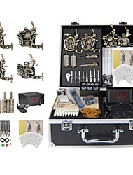 cheap -BaseKey Tattoo Machine Professional Tattoo Kit - 4 pcs Tattoo Machines, Professional LCD power supply Case Included 4 alloy machine liner