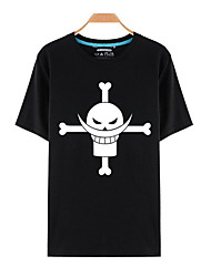 Inspiriert von One Piece Monkey D. Luffy Anime Cosplay Kostüme Cosplay-T-Shirt Druck Kurzarm Top T-shirt Für Unisex