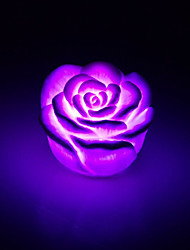 cheap -Creative Color-Changing Acrylic Rose LED Night Light Colorful Light Rose Lovers Gifts Home Decoration