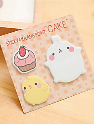 cheap -Fat Rabbit Pattern Self-Stick Note Set