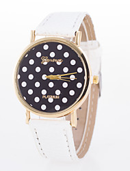 cheap -Women's Fashion Watch Quartz Leather Band Dot Black Blue Orange Brown Pink Purple Rose