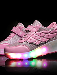 cheap -LED Light Up Shoes, Girls' Shoes / Casual Roller Skate Shoes / Fashion Sneakers Pink / Black and Red / Black and White