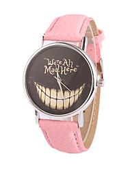 preiswerte -Damen Quartz Armbanduhr Armbanduhren für den Alltag PU Band Charme Kleideruhr Modisch Schwarz Weiß Blau Rot Braun Rosa Lila Rose