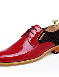 cheap -Men's Formal Shoes Patent Leather Spring / Summer Comfort / Formal Shoes Oxfords Black / Red / Wedding / Party & Evening / Dress Shoes