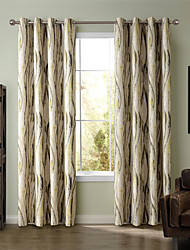 cheap -Curtains Drapes Living Room Stripe Curve Polyester Print