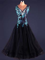 preiswerte -Werden wir Ballsaal Tanz Kleider Frauen Performance drapiert Kleid