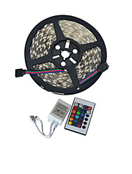 abordables -JIAWEN® 5 M 300 5050 SMD RGB Cortable / Conectable 60 W Tiras LED Flexibles DC12 V