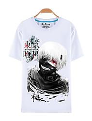 abordables -Inspiré par Tokyo Ghoul Ken Kaneki Manga Costumes de Cosplay Cosplay T-shirt Imprimé Manches Courtes Haut Pour Homme