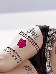 Fashion Large Temporary Tattoos Sexy Body Art Waterproof Tattoo Stickers Roses 2PCS