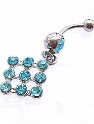 economico -Da donna Gioielli per corpo Piercing per ombelico Argento sterling imitazione diamante Bianco Blu Rosa Gioielli Quotidiano Casual 1 pezzo