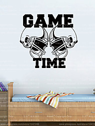 4050 American Football Helmets GAME TIME Sports Wall Decal Sticker Vinyl Art Decor Free Shipping