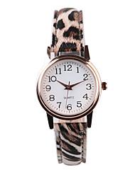 baratos -Mulheres Relógio de Pulso Venda imperdível PU Banda Leopardo / Fashion Cores Múltiplas