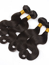 "3Pcs Lot 8""-28"" Brazilian Body Wave Virgin Hair Wefts Natural Color Remy Human Hair Weave Wavy Bundles Tangle Free"
