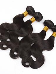 Menneskehår Brasiliansk hår Menneskehår, Bølget Krop Bølge Hår Ekstensions 3 Dele Naturlig Farve