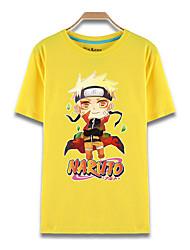 Inspiriert von Naruto Naruto Uzumaki Anime Cosplay Kostüme Cosplay-T-Shirt Druck Kurzarm Top Für Mann
