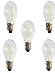 Недорогие -5 шт. 2 W 180 lm E26 / E27 LED лампы накаливания A60(A19) 2 Светодиодные бусины COB Декоративная Тёплый белый / Холодный белый 220-240 V