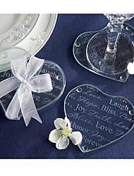 Недорогие -В форме сердца / Подставки под стаканы с фото-COASTER(Белый,Стекло)