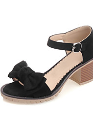 Women's Shoes Chunky Heel Peep Toe / Open Toe Sandals Party & Evening / Dress / Casual Black / Blue/ Gray / Orange